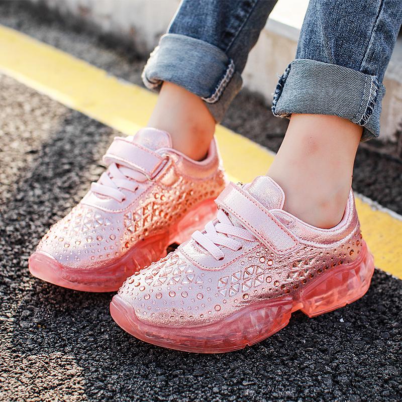 女童运动鞋2019新款儿童春秋款透气女孩网鞋子秋季单鞋中大童童鞋