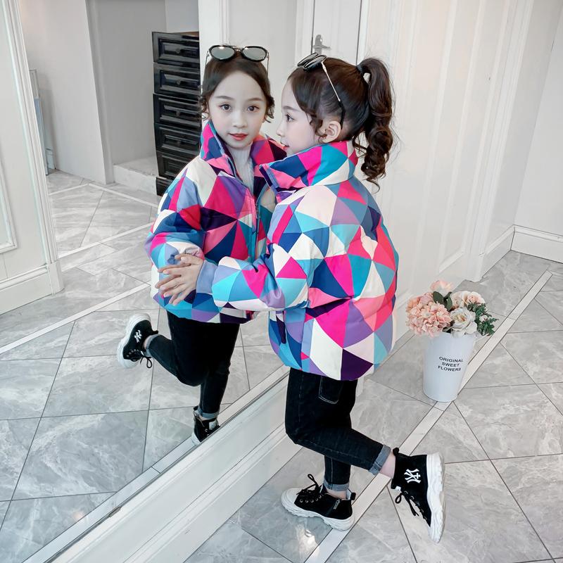 女童棉服儿童冬装短款棉衣派克童装2020新款洋气棉袄中大童面包服