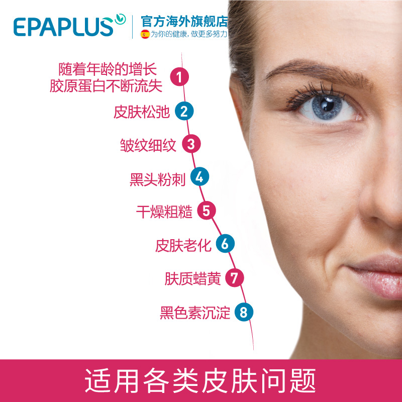 直邮Epaplus西班牙胶原蛋白口服原液美白肽 抗衰精华欧阳娜娜推荐