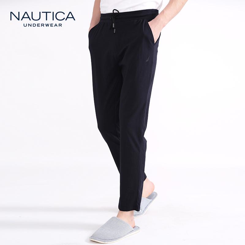 Nautica Underwear 诺帝卡 棉氨竹节抽绳男士长裤