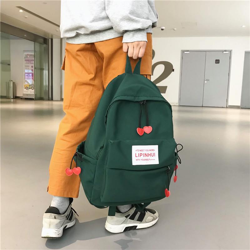 双肩包女韩版小清新旅行包帆布校园背包小学生初中生书包女包时尚