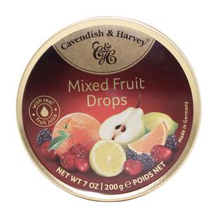 德国进口糖果 嘉云糖水果味200g铁盒装硬糖休闲糖果零食罐装食品