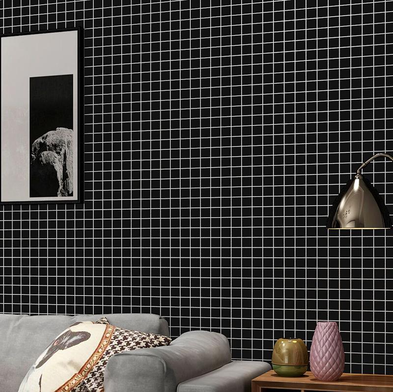 牆紙黑白色防水書桌柜子翻新貼溫馨卧室寢室宿舍裝飾神器自貼壁紙