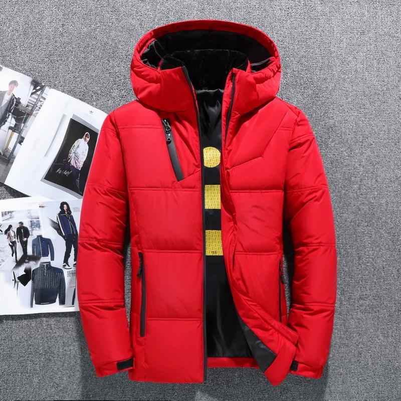 南极人羽绒服常规款加厚90%白鸭绒羽绒服男冬季青年连帽外套抗寒