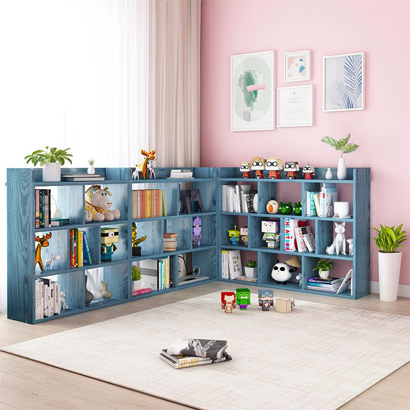 简易书架书柜落地简约客厅置物架收纳小柜子家用学生储物柜省空间