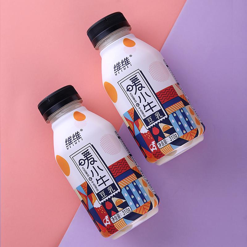 维维集团 暖小牛 醇香豆乳 310g*6瓶整箱