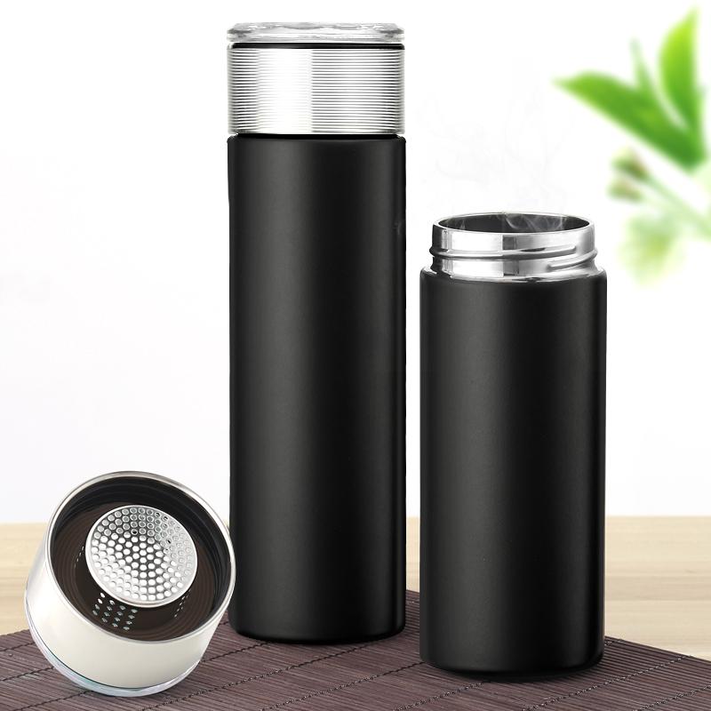 保温杯男女便携简约水杯大容量茶水分离泡茶杯不锈钢保温喝水杯子