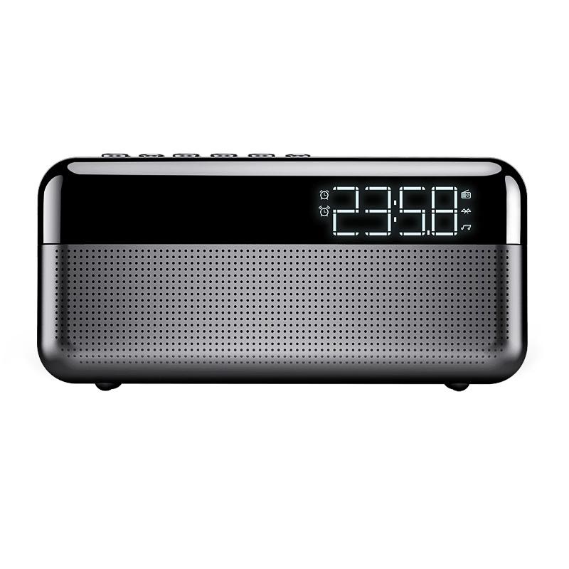 索爱S 80新款智能AI蓝牙音箱超重低音炮u盘大音量户外usb小音响无线迷你手机便携式闹钟收音机立体声环绕