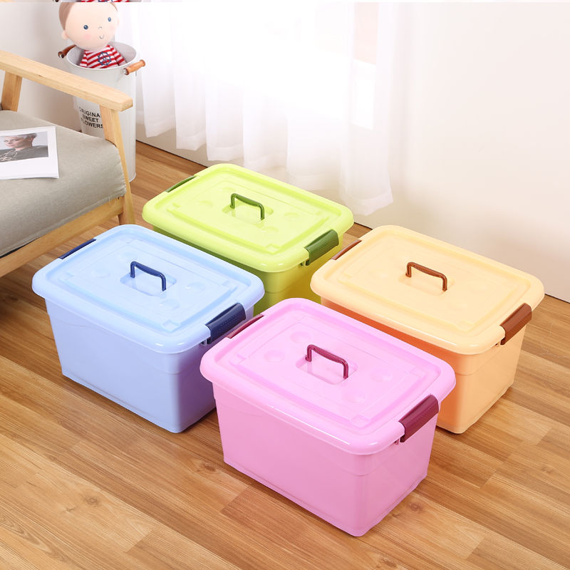 衣服收纳箱布艺整理箱可折叠床上收纳盒宿舍学生储物箱子