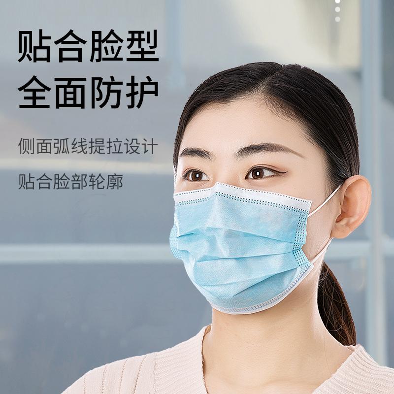 100只口罩医用外科一次性三层医疗医用口罩医科外用医护独立包装