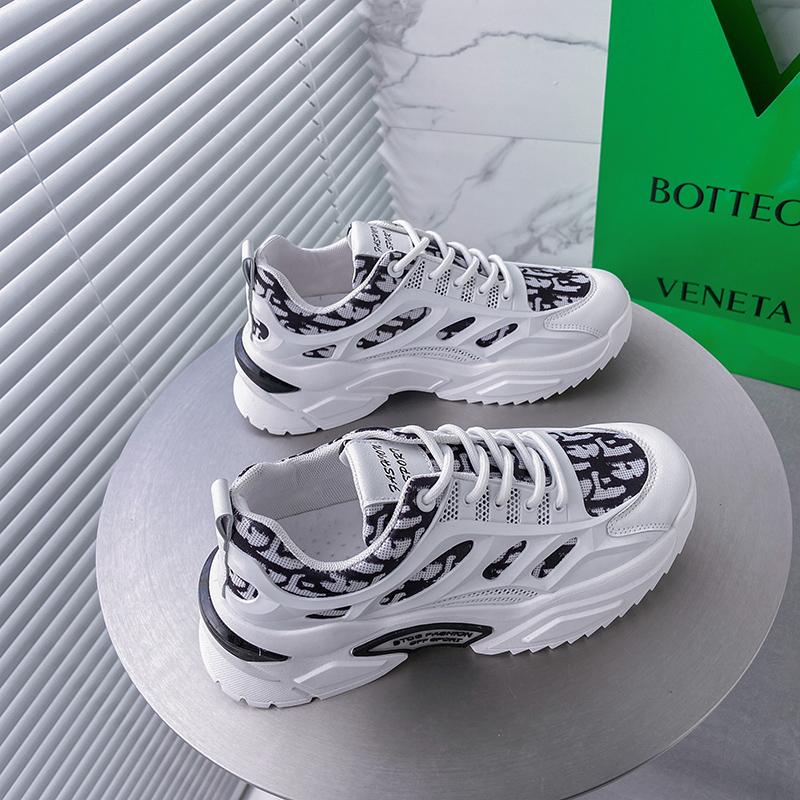 EUOH女鞋夏季网布潮百搭2021新款休闲潮流百搭女生夏季透气老爹鞋