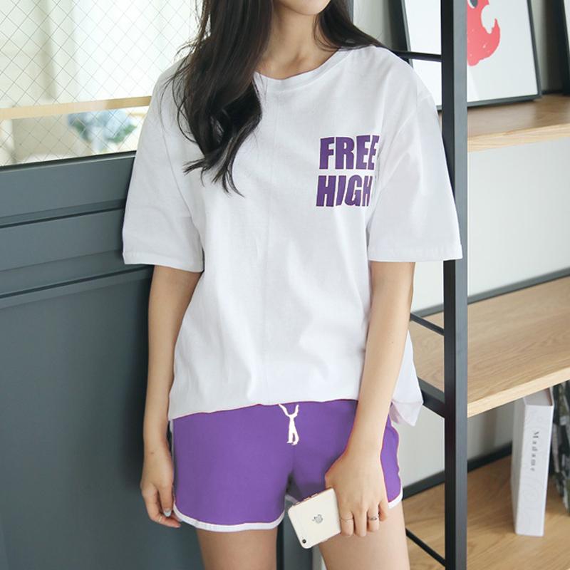 运动服套装女大码2019夏新款韩版休闲学生跑步宽松胖mm短袖两件套