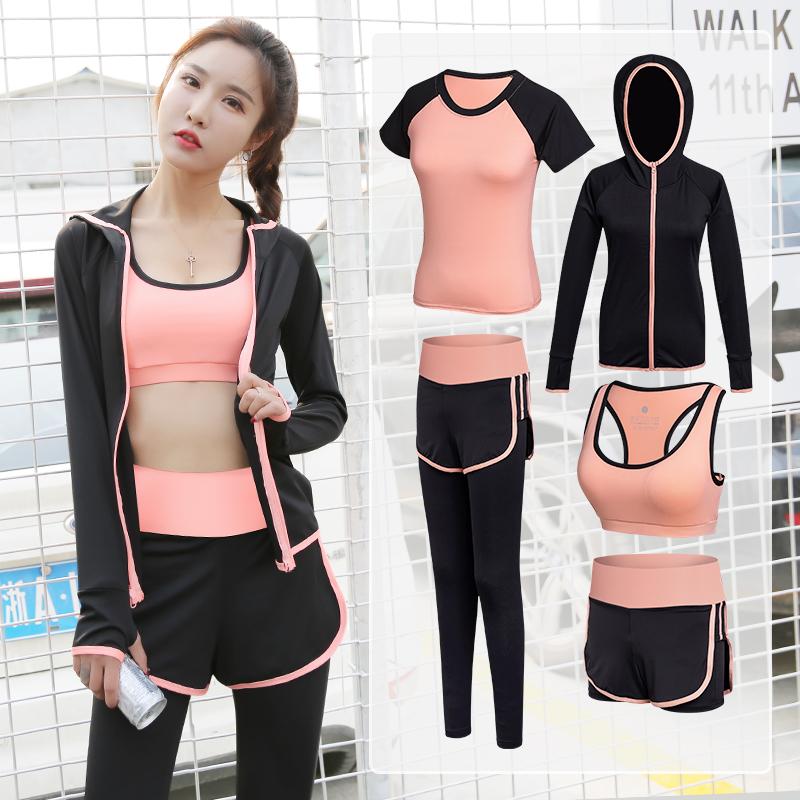 运动套装女网红速干衣女加绒款秋冬运动服健身房瑜伽服健身套装女