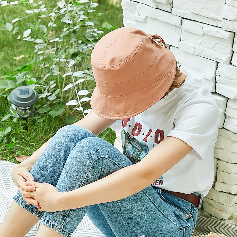 渔夫帽女春夏季2021新款防晒帽可折叠盆帽遮阳帽防紫外线太阳帽子