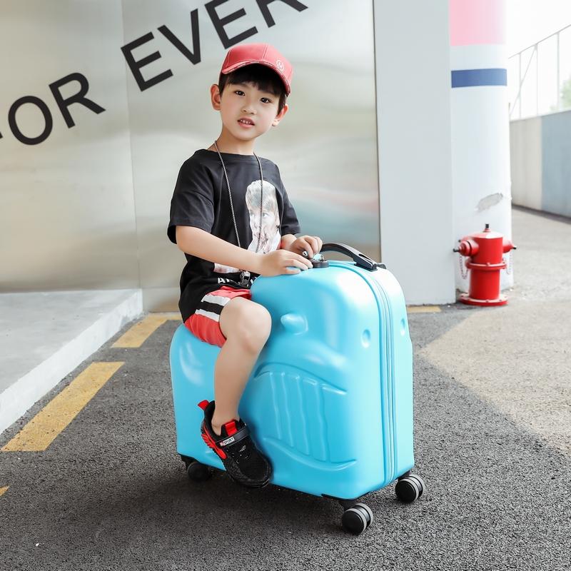 大途ins网红儿童拉杆箱可坐行李箱男20骑行卡通旅行箱女万向轮24