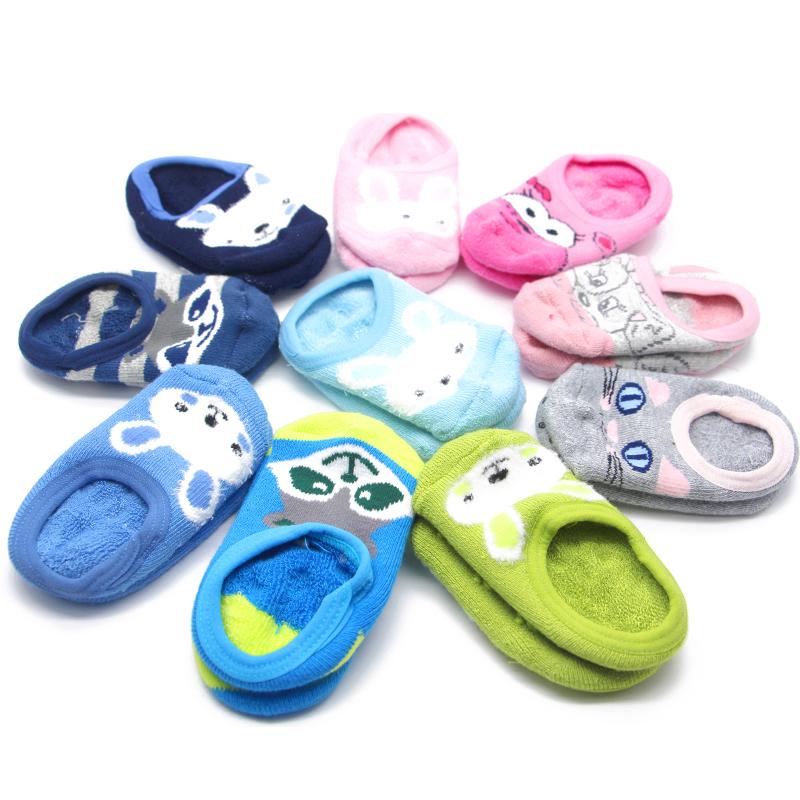 宝宝地板袜秋冬款儿童防滑软底婴儿鞋袜子袜套室内居家学步袜厚季