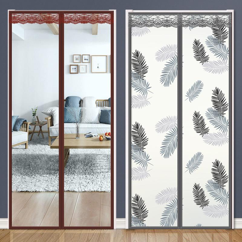 空调门帘塑料防风透明厨房磁铁自吸对吸挡风家用卧室隔断帘防冷气