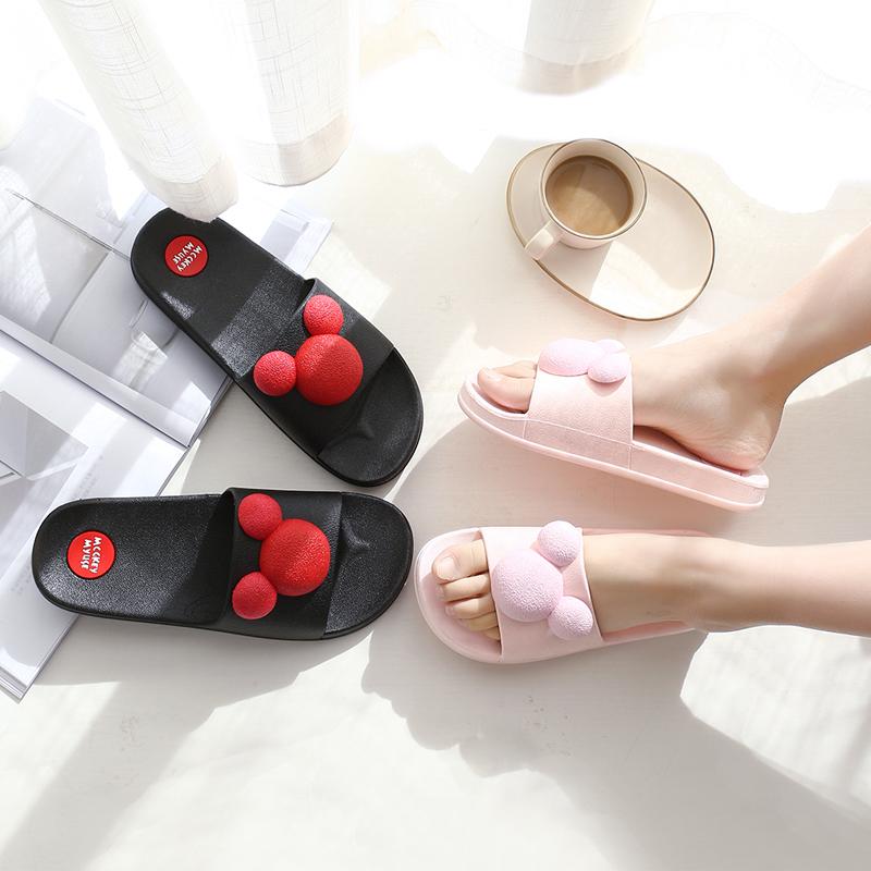 拖鞋女夏可爱情侣家居家用外穿室内防滑浴室时尚男2018新款凉拖鞋