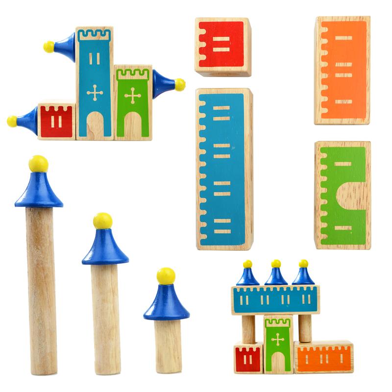 逻辑思维v木制力木制积木儿童益智力玩具关48小乖蛋玩具梦想阿马加龙城堡图片