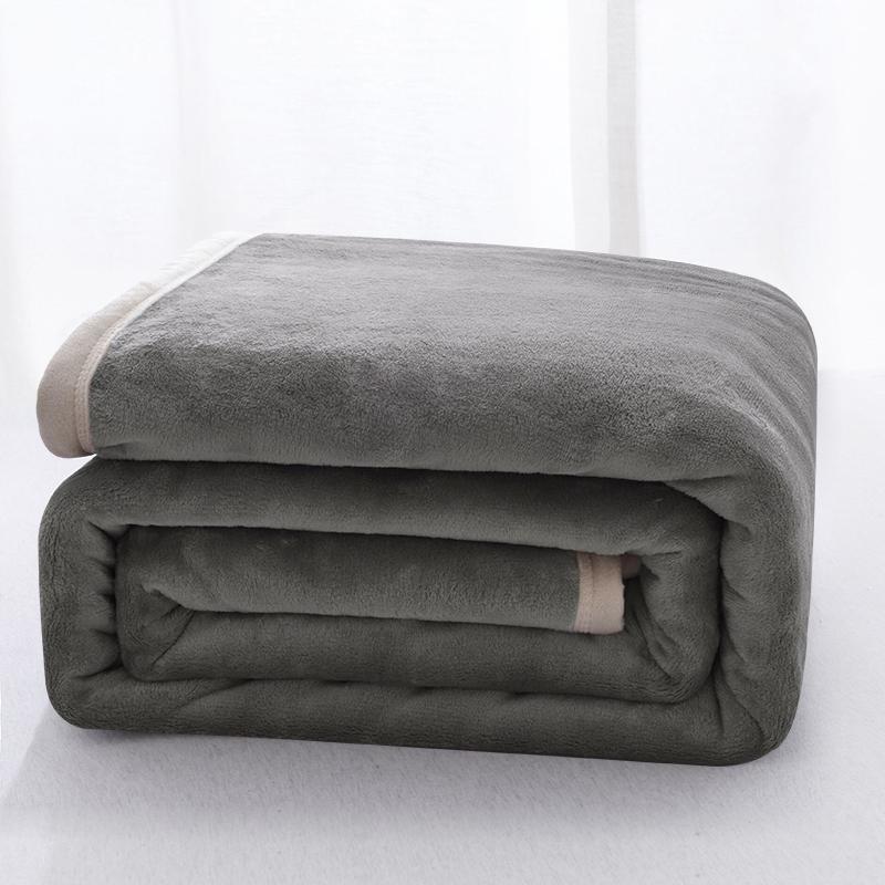 毛毯被子加厚保暖床单人珊瑚法兰绒小毯子垫双层午睡冬季宿舍学生