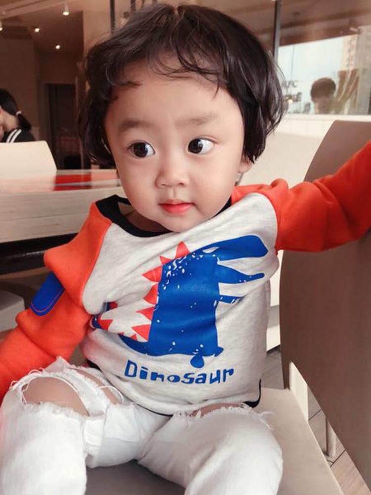 1-7岁男童女童秋季新款童装儿童卫衣宝宝纯棉套头打底衫孩子上衣