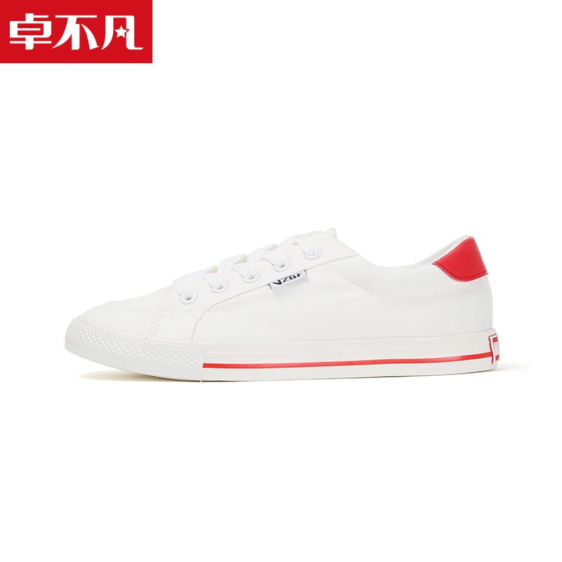 卓不凡秋季男女学生韩版小白鞋原宿街拍ulzzang百搭休闲帆布鞋子