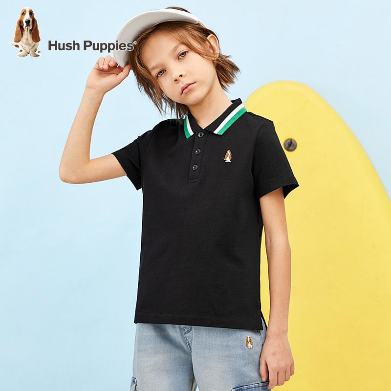 暇步士 2021新款 男童翻领POLO短袖T恤