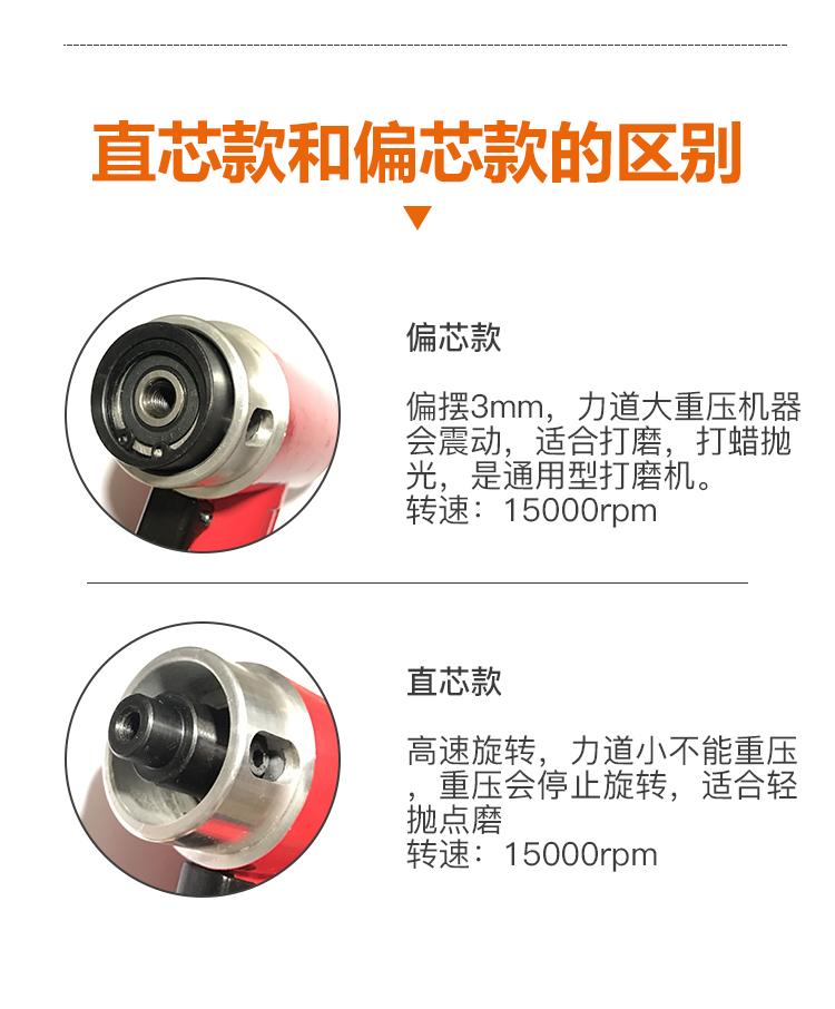 寸气动打磨机抛光机汽车打蜡小型研磨机偏心直心木工工具 3 寸 2 寸 1