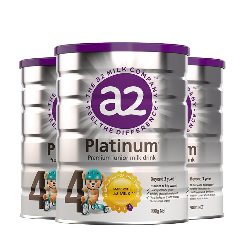 【直营】澳洲a2原装进口婴幼儿配方奶粉4段900g*3罐装3岁以上