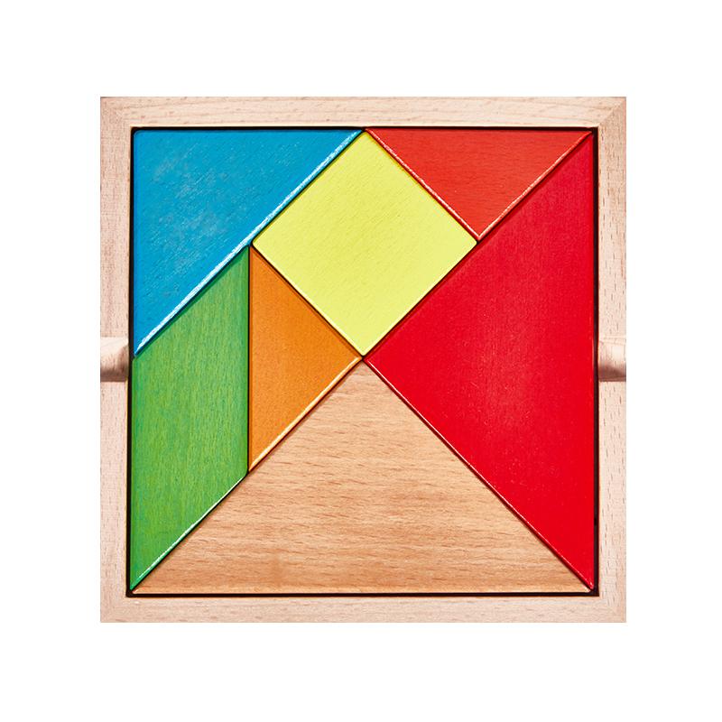 3-7岁木质七巧板小学生教具拼图