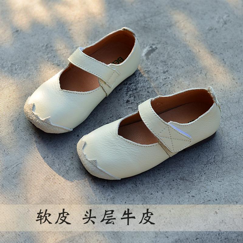 女童单鞋公主鞋真皮软皮婴儿秋款皮鞋豆豆2018韩版儿童鞋休闲宝宝