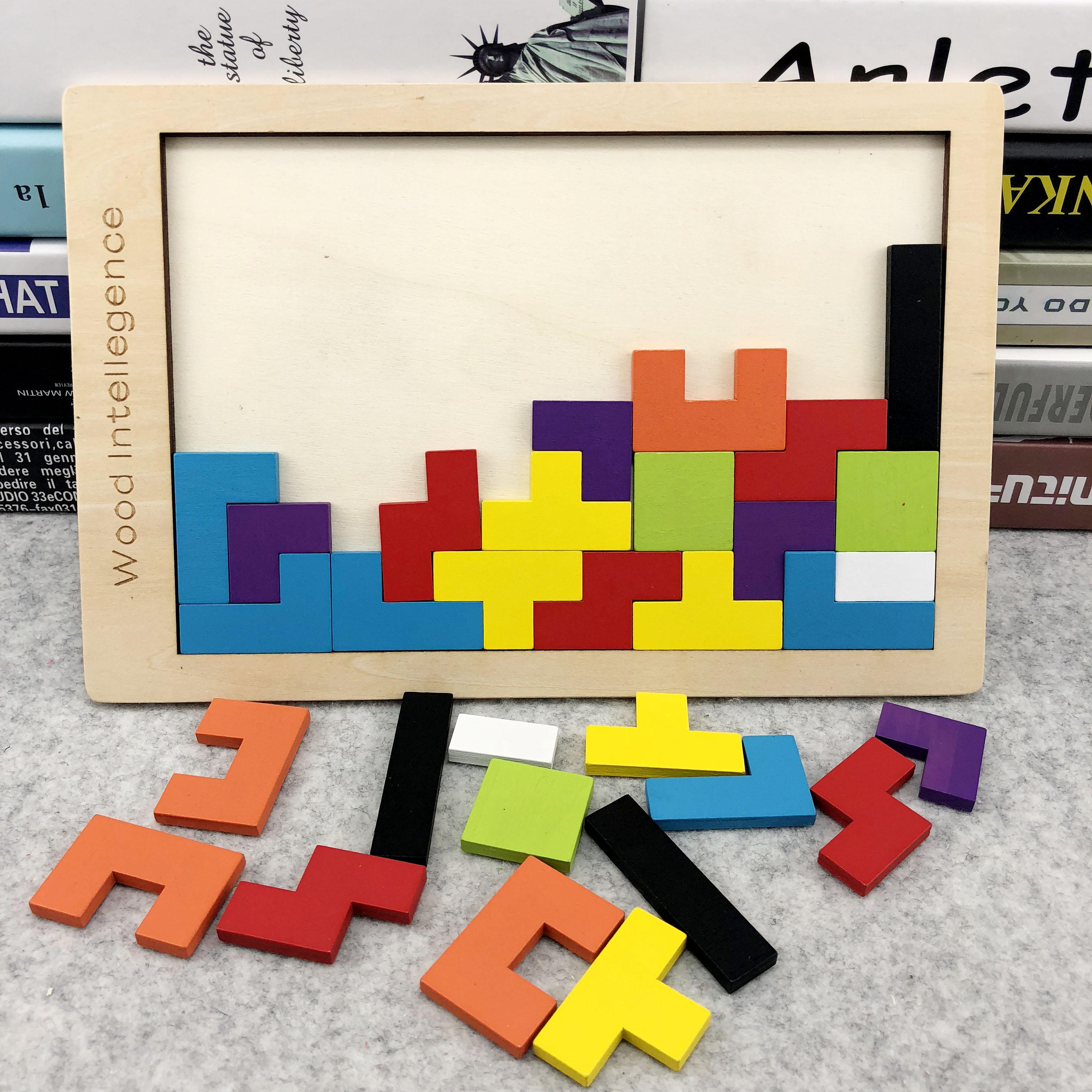 周岁幼儿童俄罗斯方块拼图积木益智力开发玩具早教男女孩 1-2-3-6图片