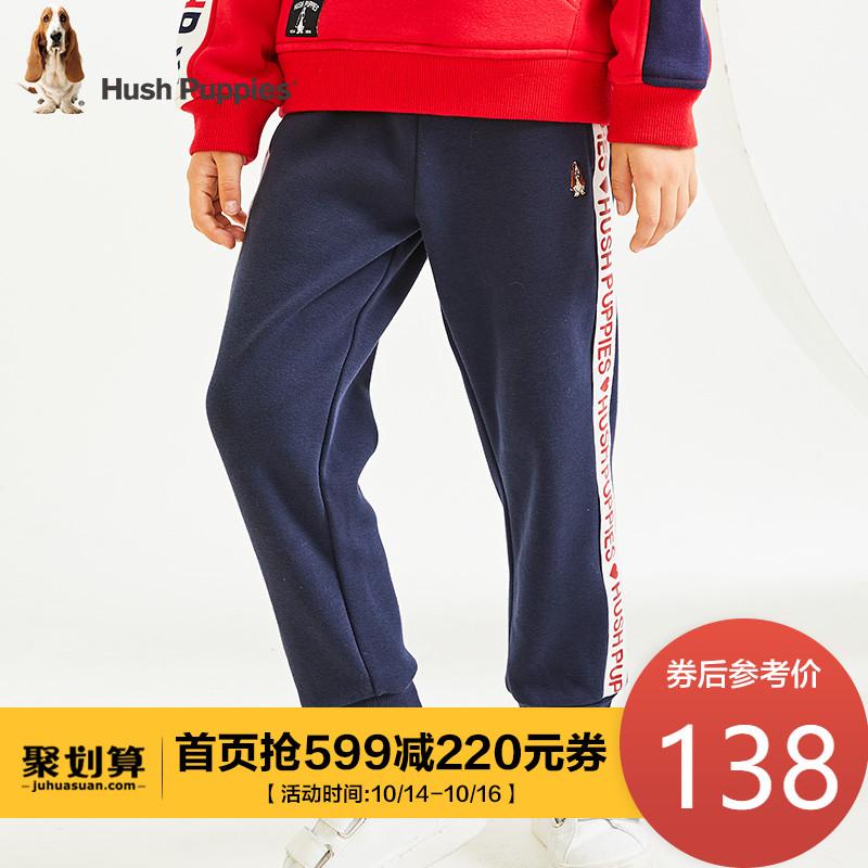 暇步士童装男女童运动裤2019冬季新款儿童加绒加厚保暖休闲长裤子