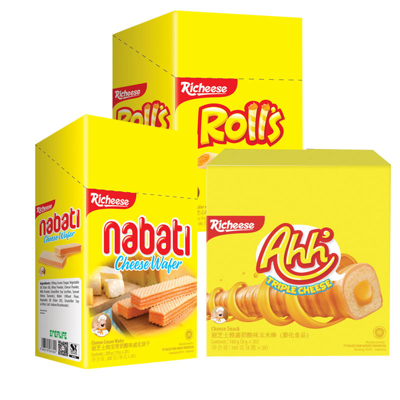 印尼进口丽芝士nabati纳宝帝威化饼干奶酪味威化饼干休闲零食小吃