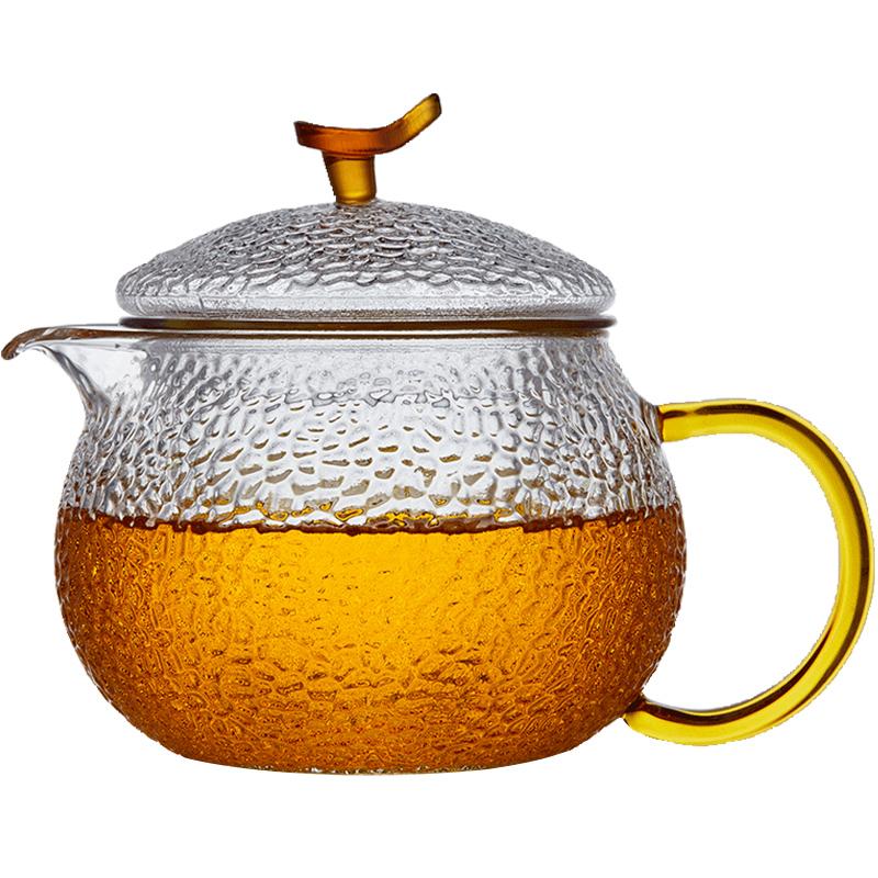 玻璃茶壶耐高温加厚单壶小号红茶茶具过滤耐热家用煮茶泡茶壶套装