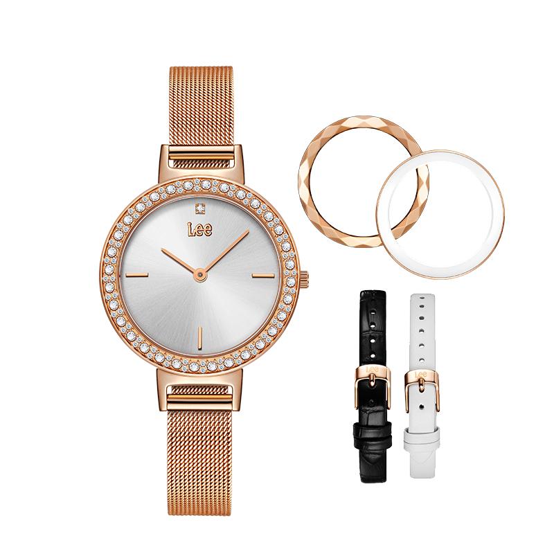 lee潮牌1=9水钻商务休闲女士腕表自由搭配9种风格DIY时尚手表F119