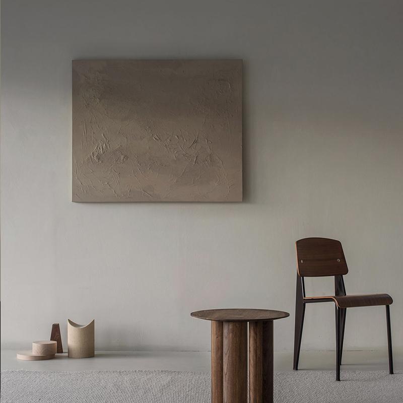 meju轻奢手绘油画玄关搭配定制大幅沙发背景墙装饰画客厅pure纯粹