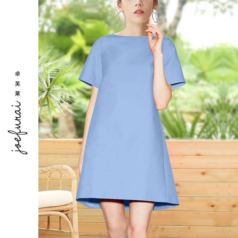 卓芙莱连衣裙女2020年夏新款流行女装时尚气质名媛夏天轻熟风裙子