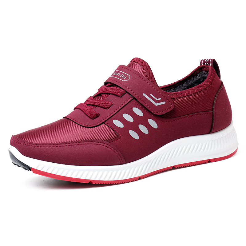 健步鞋老人鞋女防滑软底舒适中老年爸爸妈妈运动鞋休闲透气单鞋男