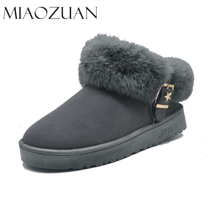 雪地靴女短筒2018冬季新款短靴韩版百搭学生棉鞋女加绒保暖短靴潮