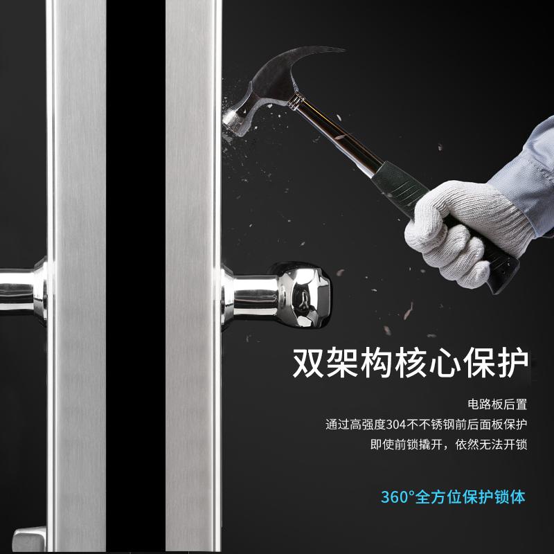 鑫众美智能指纹锁门感应卡门锁指纹密码锁家用刷卡锁电子锁防盗锁