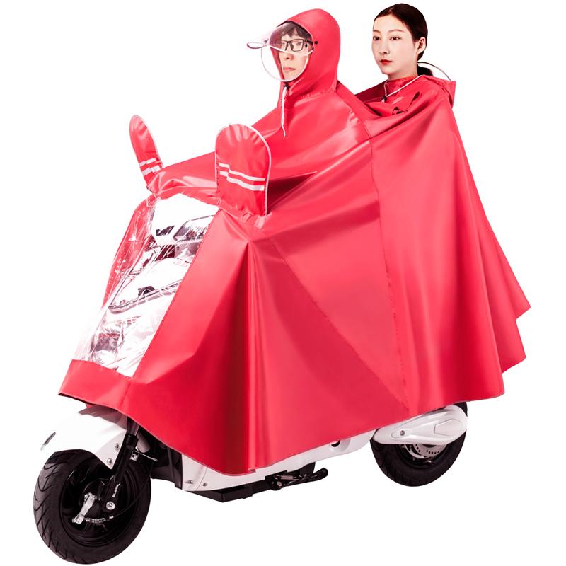 雨衣双人电动自车行车电瓶摩托成人骑行防水加大加厚母子单人雨披