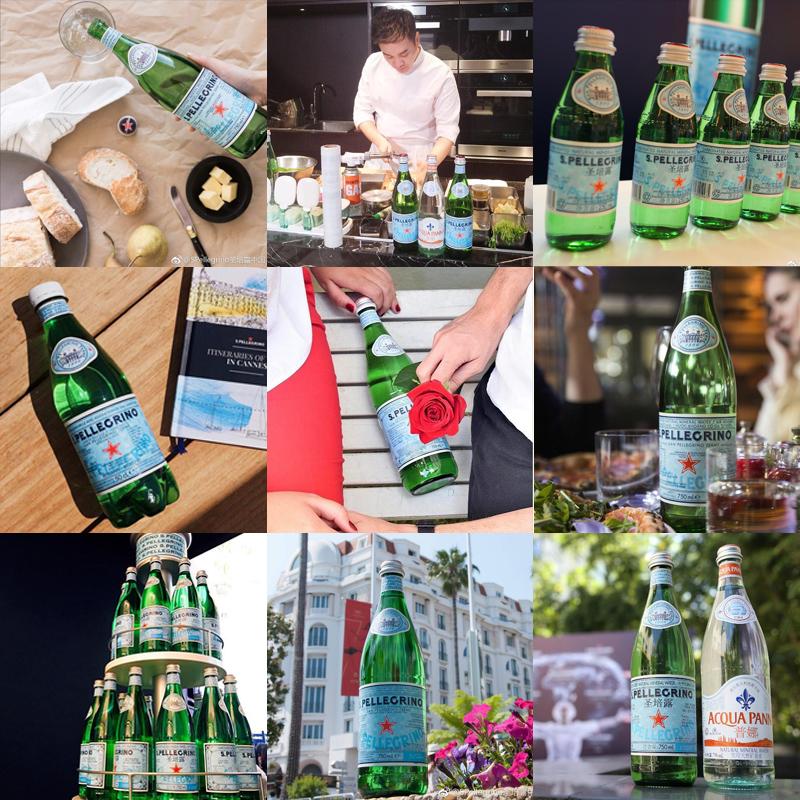 意大利进口圣培露含气天然矿泉水500/1000ml塑料瓶气泡苏打水