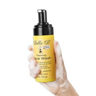 小蜜蜂洗面奶氨基酸男女洁面控油祛痘孕妇敏感肌除螨泡沫黑头清洁