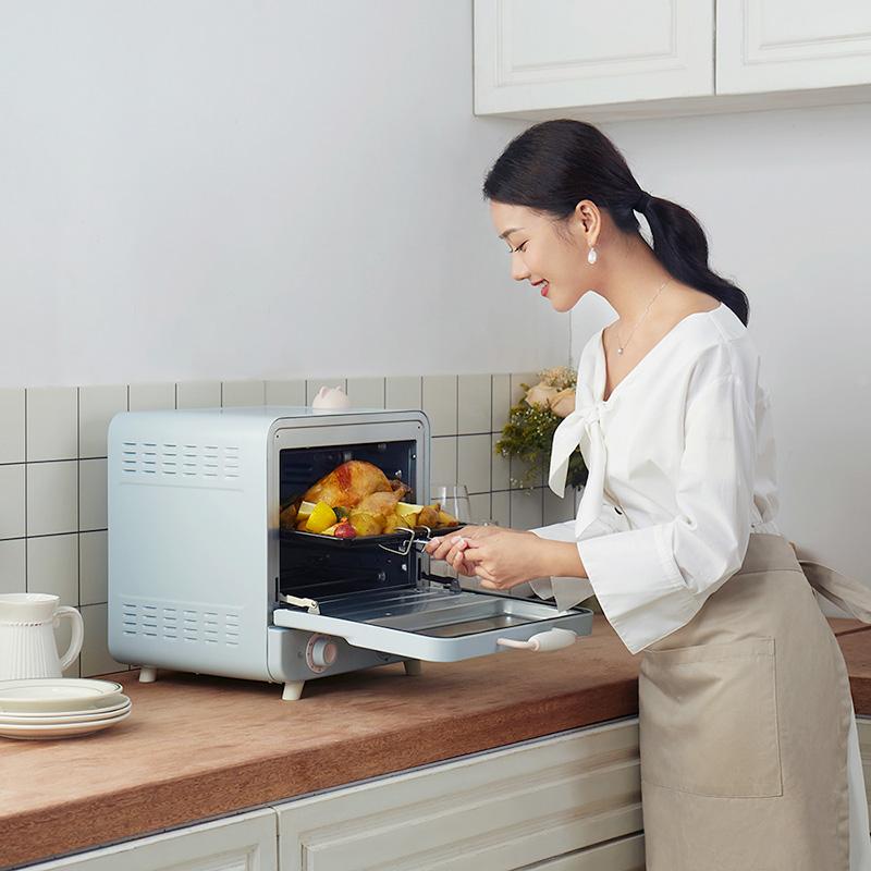 小熊烤箱家用小型电烤箱多功能蒸烤一体机全自动蒸汽烘焙蛋糕20升
