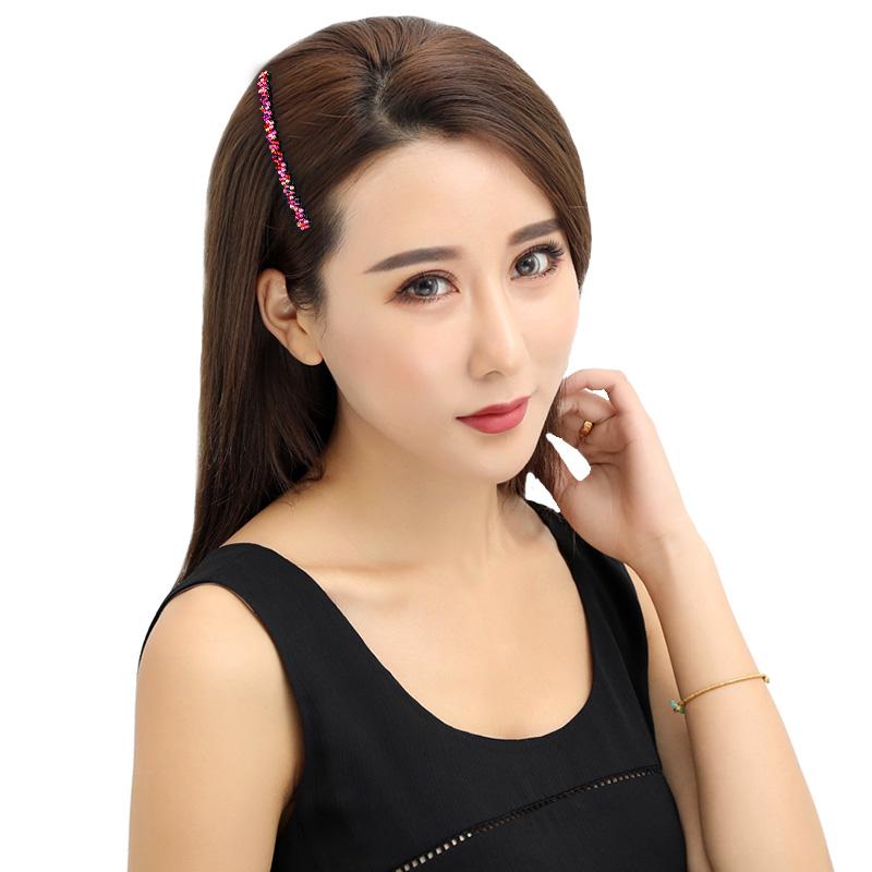 水钻发梳升级款发卡头饰韩国成人发夹百搭防滑插梳刘海梳顶夹发饰
