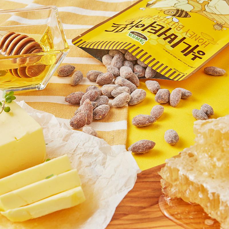 韩国进口 汤姆农场 蜂蜜黄油/山葵味巴旦木杏仁干 420g