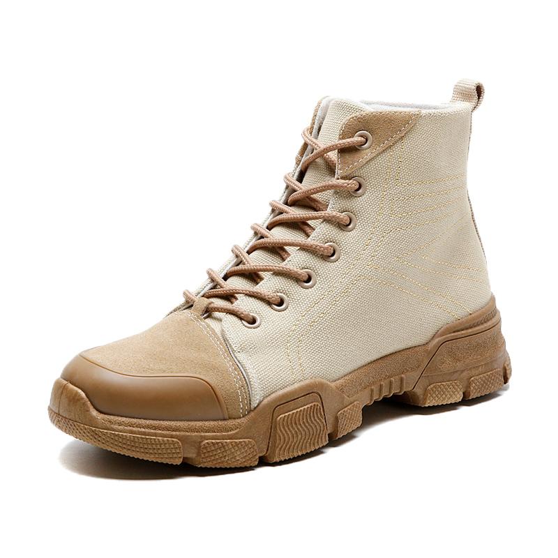 马丁靴男韩版潮流中帮雪地工装沙漠短靴英伦2018新款复古百搭靴子
