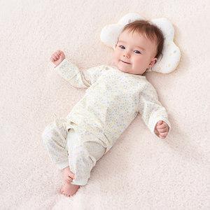 英氏儿童内衣套装纯棉婴儿和尚服长裤宝宝衣服纯棉精梳棉 两件装
