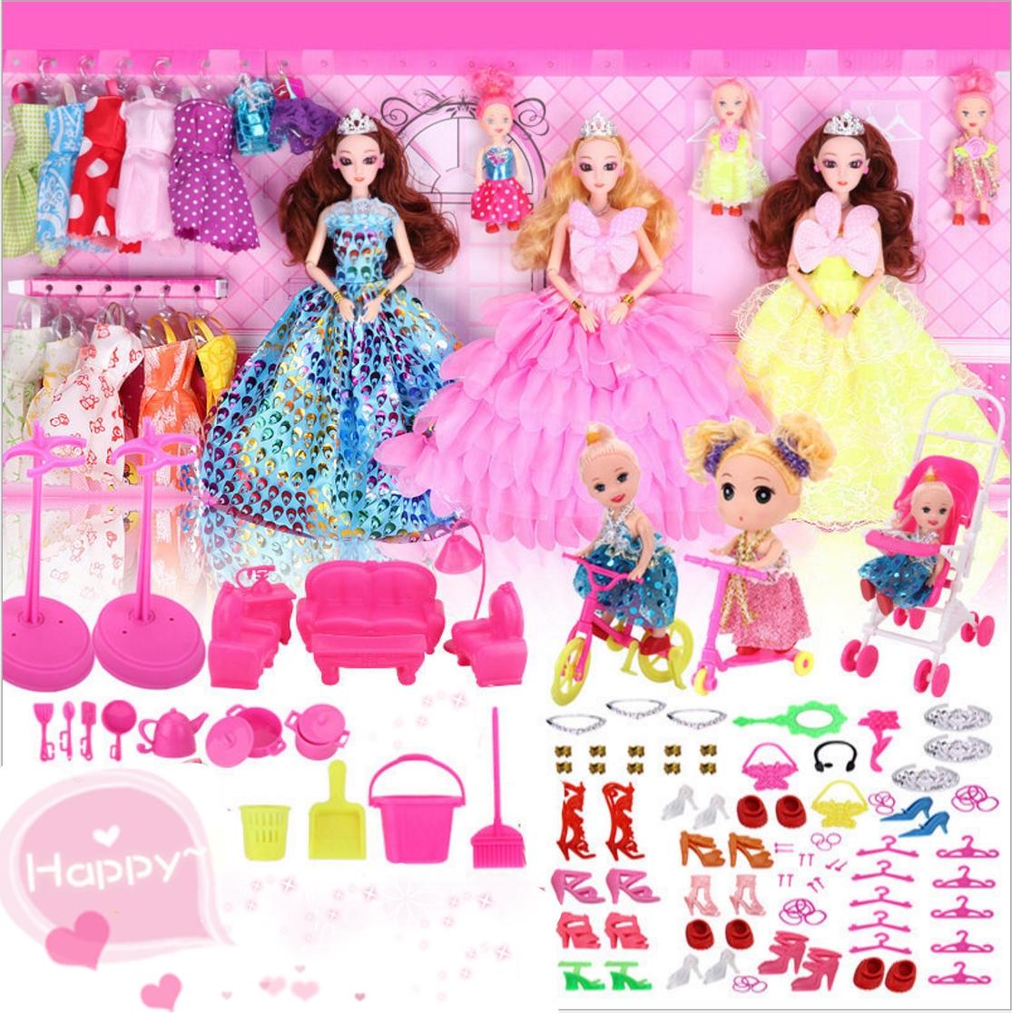 洋娃娃儿童玩具过家家大礼盒真眼美瞳生日礼物儿童礼物